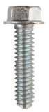 M8-1.25 X 25MM DIN 7500-D UNSLOTTED INDENTED HEX WASHER HEAD TRILOBE THREAD FORMING SCREW STEEL ZINC